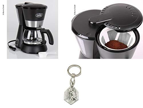Zisa-Kombi Kaffeemaschine 230V, 600W, schwarz, 650ml, 4-6 Tassen (93298891863) mit Anhänger Hlg. Christophorus