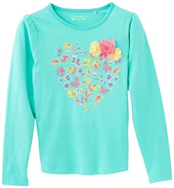 ESPRIT Girl's 024EE7K011 T-Shirt, Candy Green, 5 Years (Manufacturer Size:104+)