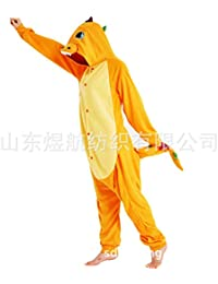 SALICEHB Modelle Bunte Dragon Yellow Dragon Fleece Cartoon Einteilige Pyjamas Tierkostüme