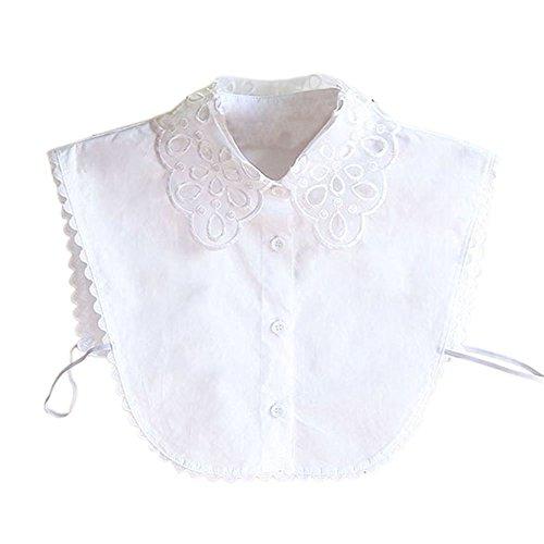 Blouses Fake Collar - TOOGOO(R)New Women Blouses Fake Collar Half Shirt Detachable False Collar (White)