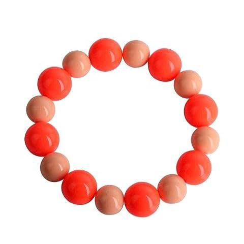 Lureme Fluorescence Double Colors Interval Mode Beaded Bracelet (600170)