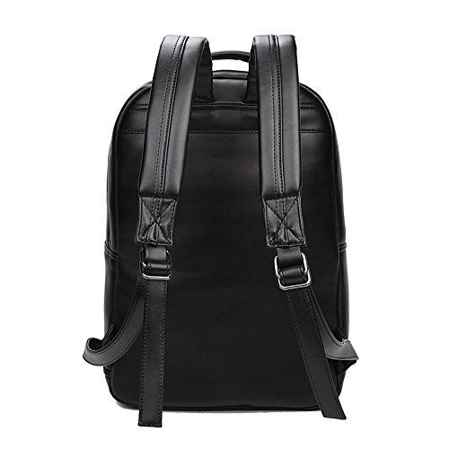 SZH PU esterna impermeabile Sport Daypack 3D bestiame modello corsa che fa un'escursione zaino , black Silver