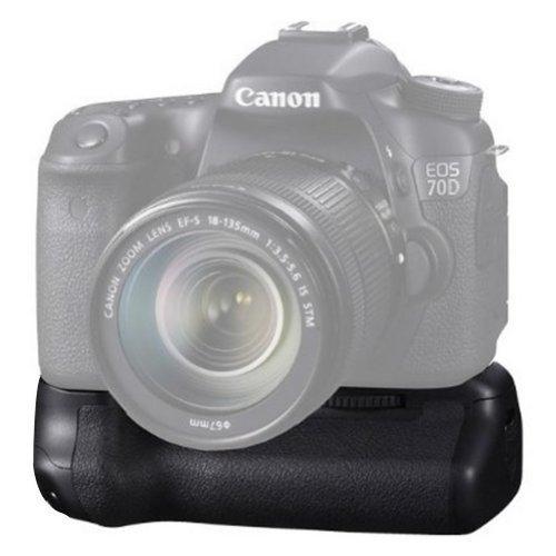 Neewer® Pro Batteriegriff Akkugriff Battery Grip wie der BG-E14 + 2x aufladbare 7.4V 1800mAh Batterie ersetzt LP-E6 Li-ion Batterie für Canon EOS 70D DSLR Kamera