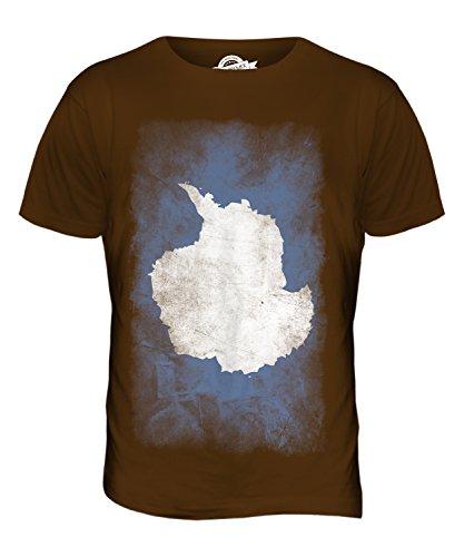 CandyMix Antarktika Verblichen Flagge Herren T Shirt Braun