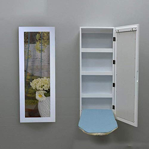 CWJ Haushalt Kleine Tisch Wand Montiert Bügelbrett Halter In-Wall Bügelbrett Falten Bügelbrett Kleiderschrank Einfache Kreative Bett Multifunktions Tisch