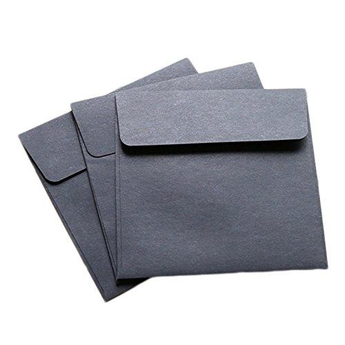 weimay 20Teile von Kraft Security Square Envelope 4x 4Zoll (braun) 4x4 Inch Schwarz