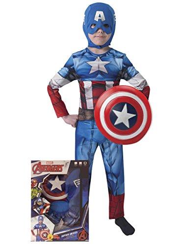 Rubie s it620551-s–Kostüm Captain America mit ()