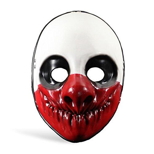 Payday 2 Wolf Bankräuber Maske Kostüm Zubehör Clown Maske aus Actionspiel ()
