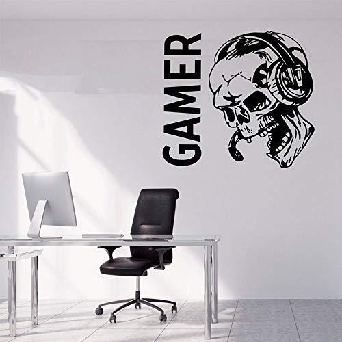 Sugar Skull Game Aufkleber Videospiel Geschenke Kinder PS4 Xbox Gaming Quote Poster Vinyl Aufkleber Spielzimmer Dekor Wandkunstdruck 46 * 42 CM