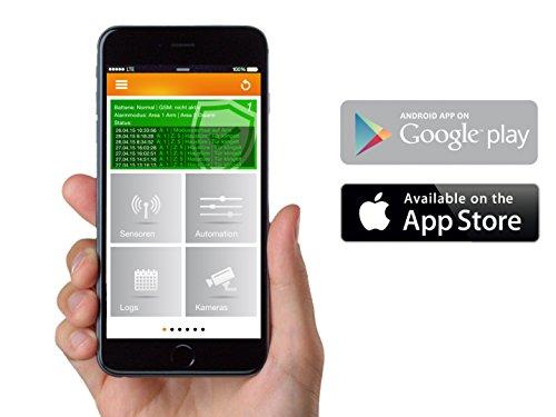 LUPUSEC XT1 Smarthome Funk-Alarmanlage, Starter Pack mit Funk Bewegungsmelder, 2 Türkontakten und Keypad, IP basierte Einbruchmeldeanlage für Ihr Haus, fernsteuerbar via Browser, Tablet oder Smartphone, Wachschutz aufschaltbar - 5