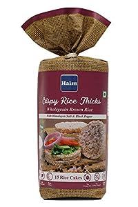 Haim Wholegrain Brown Rice Cakes with Himalayan Salt & Black Pepper (Pack of 8)
