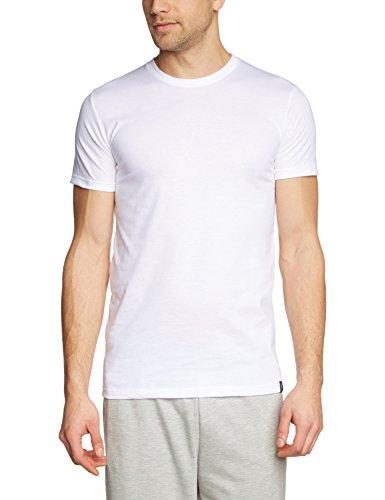 Trigema Herren T-Shirt Slim Fit, Einfarbig, Gr. Medium, Weiß (weiss 001)