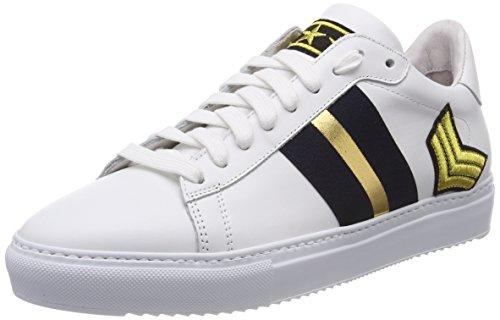 f58d8ebd3543 Stokton Damen Sneaker Mehrfarbig (White Navy Gold) 39 EU