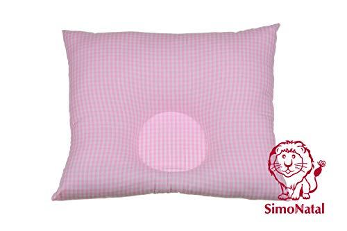 BabyDorm Karo original Babykopfkissen ohne Bezug gegen Kopfverformung/Plagiozephalie/ Plattkopf für eine schöne natürliche Kopfform von SimoNatal (II, Vichykaro rosa)