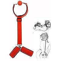 Halsband mit atmungsaktivem Knebelball und Armfesseln für Rollenspiele (Red) preisvergleich bei billige-tabletten.eu