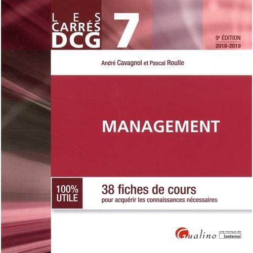 Management DCG 7 : 38 fiches de cours pour acquérir les connaissances nécessaires