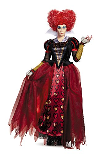 The Through Alice Kostüm Looking Glass - Alice Through The Looking Glass Red Queen Adult Deluxe Costume Medium 8-10