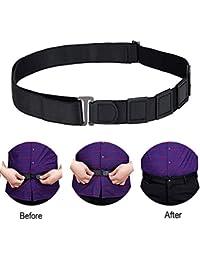WooyMo Men's Adjustable Non-Slip Wrinkle Invisible Elastic Shirt Stay Lock Belt (12)