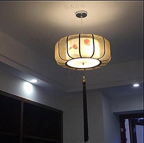 lustre restaurant feu feu classique salon art antique hôtel restaurant pendant des lustres,diamètre à 24 po oiseau rouge