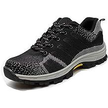 Zapatillas de Seguridad para Hombre Antideslizante Calzado de Trabajo para Ligeras Comodas 35-46