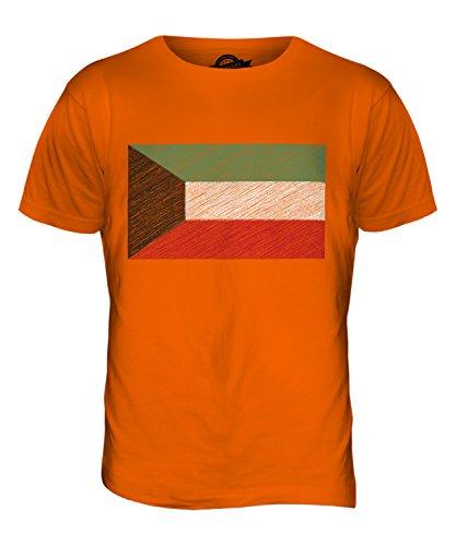 CandyMix Kuwait Kritzelte Flagge Herren T Shirt Orange