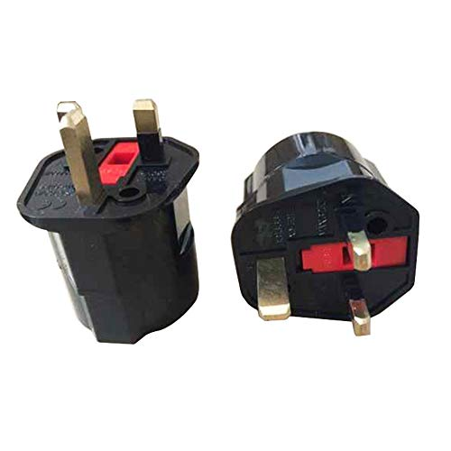 Reisestecker Geerdeter Stecker AdapterEU Euro 2 Pin nach UK 3 Pin Stecker AC Universal Adapter...