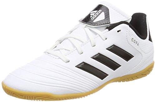 adidas Unisex-Kinder Copa Tango 18.4 in Fußballschuhe, Weiß (Footwear White/Solar Red/Core Black), 36 2/3 EU (Adidas Indoor-fußballschuh)