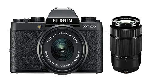 Fujifilm X-T100 inkl. XC15-45mmF3.5-5.6 OIS PZ + XC50-230mmF4.5-6.7 OIS, Schwarz -