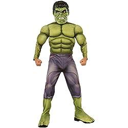 Rubies - Disfraz para niño, diseño Hulk de Marvel, talla L (610429L)