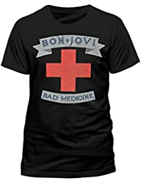 Unknown Bon Jovi - Bad Medicine-Camiseta Hombre
