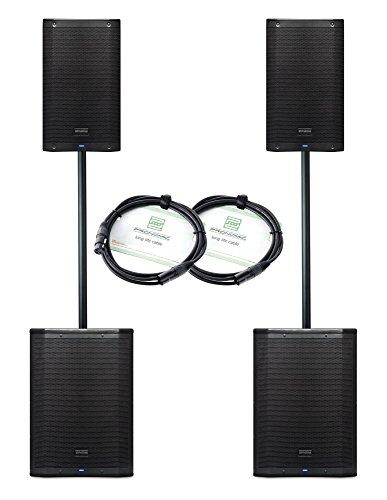 PreSonus AIR Aktiv Stereo Lautsprecher Set (4x 1200 W Leistung (Peak), 2x 15