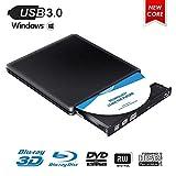 Externes Blu Ray DVD Laufwerk,MingBin Externe 4k 3D Blu Ray DVD Brenner,USB 3.0 Tragbare Ultra Slim BD/CD/DVD RW Player Disc für Windows 10/7/8 / Vista/XP/Mac OS Linux