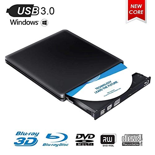 Externes Blu Ray DVD Laufwerk,MingBin Externe 4k 3D Blu Ray DVD Brenner,USB 3.0 Tragbare Ultra Slim BD/CD/DVD RW Player Disc für Windows 10/7/8 / Vista/XP/Mac OS Linux