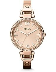 Fossil Damen-Armbanduhr Analog Quarz Edelstahl ES3226
