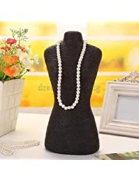 Alcoa Prime New Long Sweater Chain Necklace Jewelry Display Bust Stand Black 28x18cm