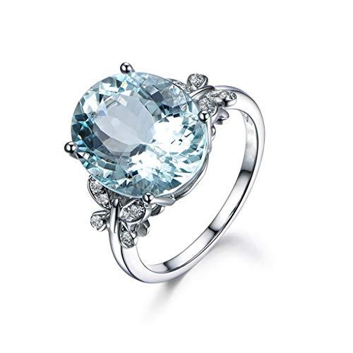 Moonuy Summer Verlobungsring Neue Hochzeit Band Verlobungsringe Mode Design Blauer Diamant Schmuck Jubiläumsgeschenk