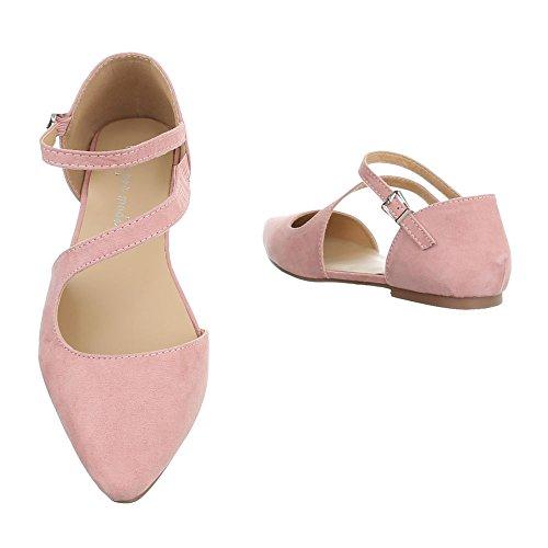 Ital-design - Zapatos Rosas Mujer Cerrados