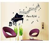 Klavier Wandaufkleber Musikanlage Wohnkultur Musik Klebstoff Für Musiker Minnesänger Musikinstrumente