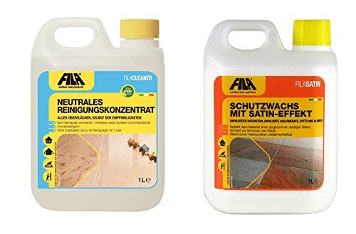 FILA SET 2 REINIGUNG + FINISH: Fila Cleaner 1l + Fila Satin 1l -