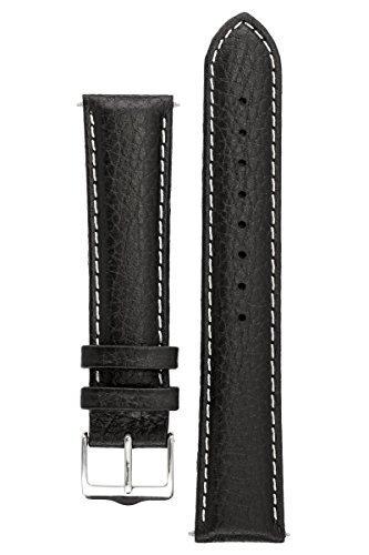 signature-buffalo-armbanduhr-band-ersatz-uhrenarmband-echtleder-silber-schnalle