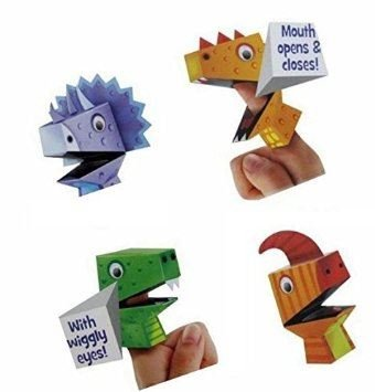 Make Your Own Finger Puppets Dinosaur Design Art Craft Children Kids Activity Fun by Concept4u