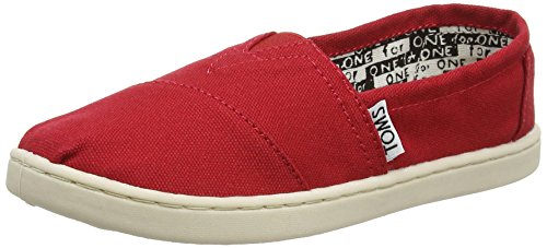 Toms - Classics Youth Shoes for Kids, UK: 5 UK, Red