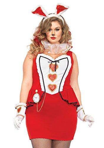Imagen de leg avenue tea party de disfraces de halloween conejito mujeres rojo / blanco tamaño grande