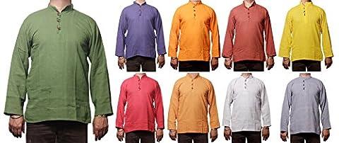 50pc Men's Indian Cotton Shirt Short Kurta - Indian Men's Clothing Fashion Dress Wholesale Lot