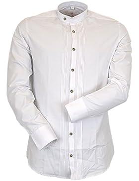 OS Trachten Slim Fit Hemd mit Stehkragen und Biesen timmi by Orbis