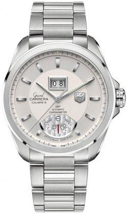 TAG Heuer WAV5112.BA0901 - Reloj para hombres, correa de acero inoxidable color gris