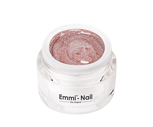 Emmi-Nail Farbgel Baby Doll Glam 1: UV-Gel für glänzendes Finish, hohe Deckkraft, glitzer-rosa, mittelviskos, kein Verlaufen in die Nagelränder, 5 ml