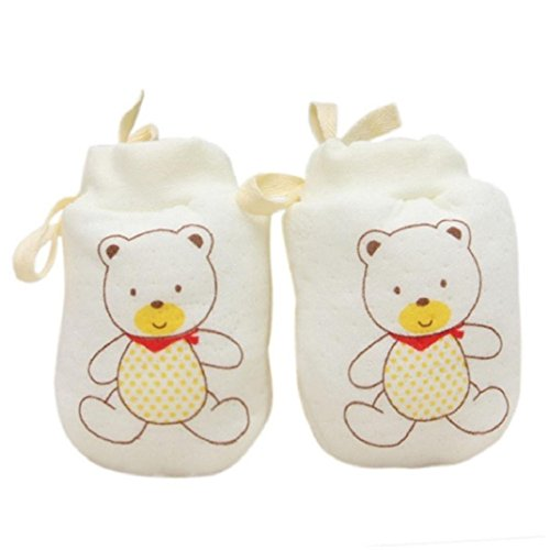 Amcool Baby Handschuhe,Schön Baby Mädchen Junge Blatt Warme Handschuhe(0-12 Monate) (0-12 Monate, Gelb 1)
