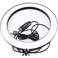 mobimint 10 inch Selfie LED Ring Light,Circle Lighting for Video Portrait Makeup,Flash Lamp Clip Ring Lights Fill-in…