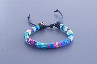 Made by Nami Bracelet surfeur cool. Réglable en continu pour dames et Messieurs turquoise